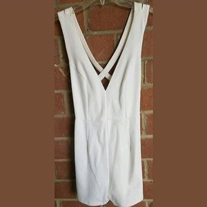 Wet Seal White Strappy Open Back